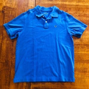 Vineyard Vines - Boys' Blue Golf Shirt - L (16)